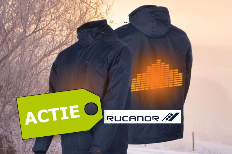 In januari en februari spaar je met je orders een gratis verwarmde jas van Rucanor bij elkaar. Sluit deze jas aan op een Powerbank en blijf de hele winter lekker warm!
